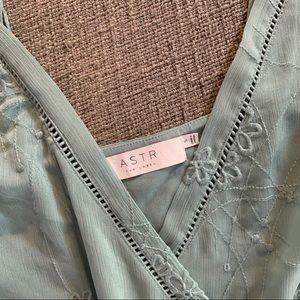Astr Dresses - Sold ASTR the label maxi dress blue wrap dress s